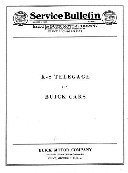 K-S Telegage / Gas gauge repair instructions - Pg. 1