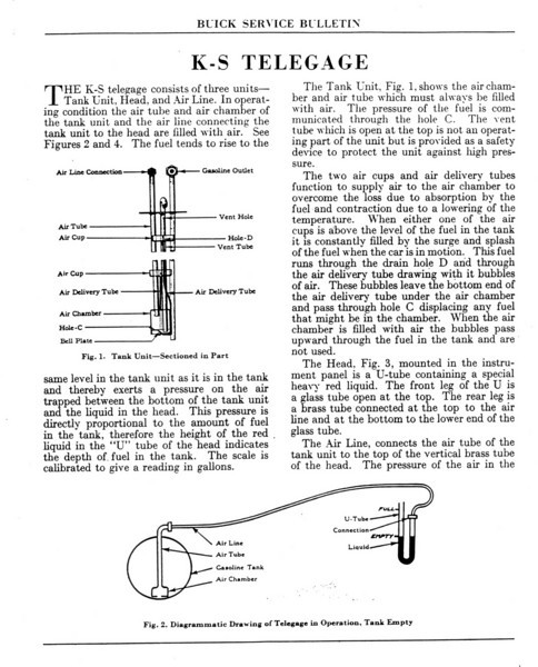 K-S Telegage / Gas gauge repair instructions - Pg. 2