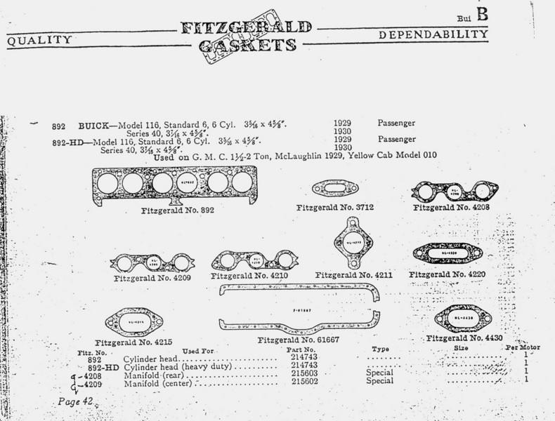 Fitzgerald gasket information