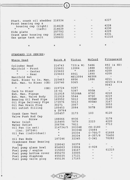 Gasket Information - Summery - Pg. 3