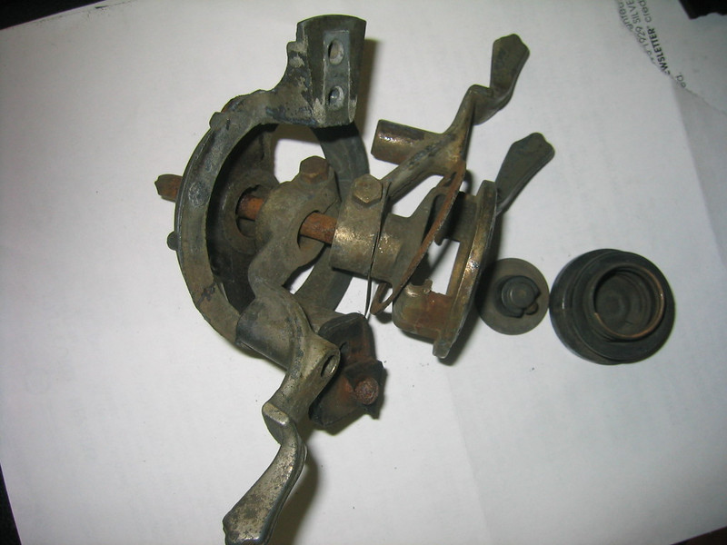 Steering wheel levers - disassembled.