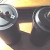 Left:  Reproduction Oil Filter (Bob's Automobilia);  Right - Original Oil Filter.