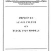 Oil Filter Service Bulletin (No. 1 - Aug. 1 / 28) - Cover