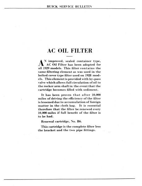 Oil Filter Service Bulletin (No. 1 - Aug. 1 / 28) - Pg. 2