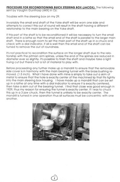 Steering Box Reconditioning (by Vaughn Gunthorp) - Pg. 1