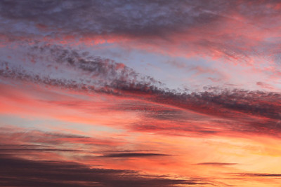 Beautiful sunset sky with clouds. Natural background concept