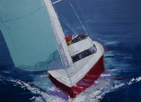 Day Sailing-Burrows, 40x54 oil on canvas