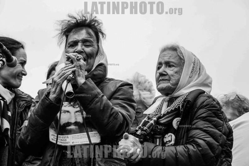 Aniversario 2 meses desaparición de Santiago Maldonado 01-10-2017