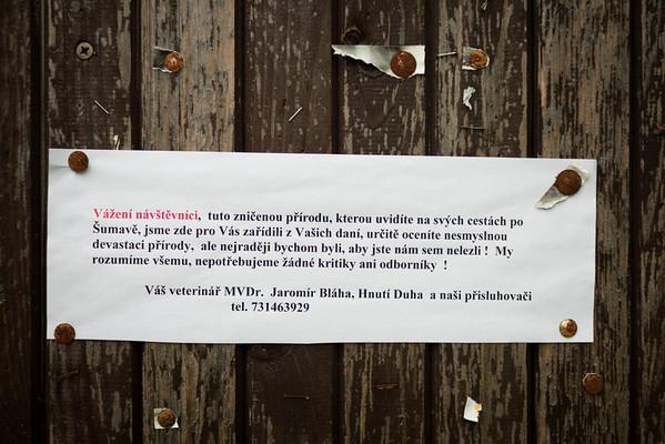 Odpůrci ochránců Šumavy vzkazují: