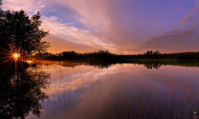 Sunset from Savonranta 1, Finland