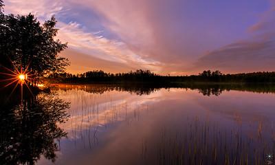 Sunset from Savonranta 1, Finland