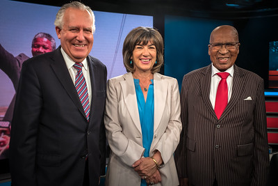 At CNN London Studio, with Peter Hain and Christiane Amanpour