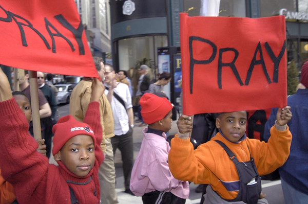 Anti-war demonstration in New York City - March 22, 2003