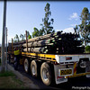 Late in the afternoon we see a road train pull up laden with CSG drilling pipes.