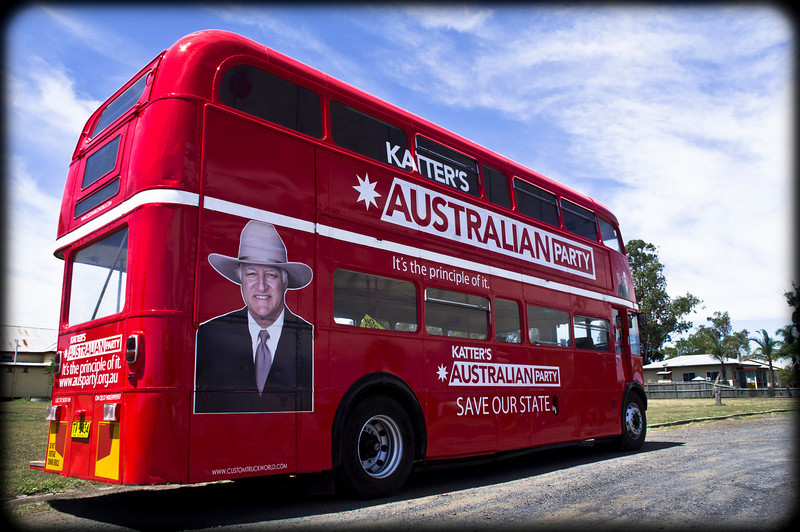 London bus in the outback