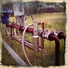 This is one of a number of CSG wells on the Baker property - a strange tangle of pipes and machinery.