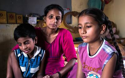 Daljeet with her children