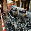 7/6/09 17:34 Via del Borgo di San Pietro 23<br /> <br /> Forte incendio che coinvolge diversi motocicli, una auto e gli edifici circostanti. A dodici ore dall'evento