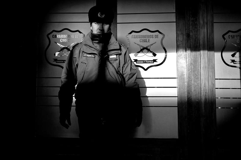 El guardia, Punta Arenas Patagonia Chile