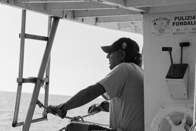 momento di pausa raggiungendo la zona di pesca