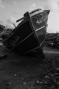 barca ferma a terra
