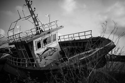 barca con pittura