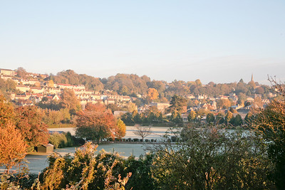 Bradford-on-Avon on a frosty bright winter's morning