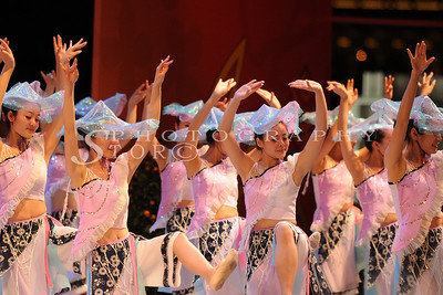 Dancers at the Chinese New Year show at Singapore Marina Bay Front 2011. Ushering in the Lunar New Year