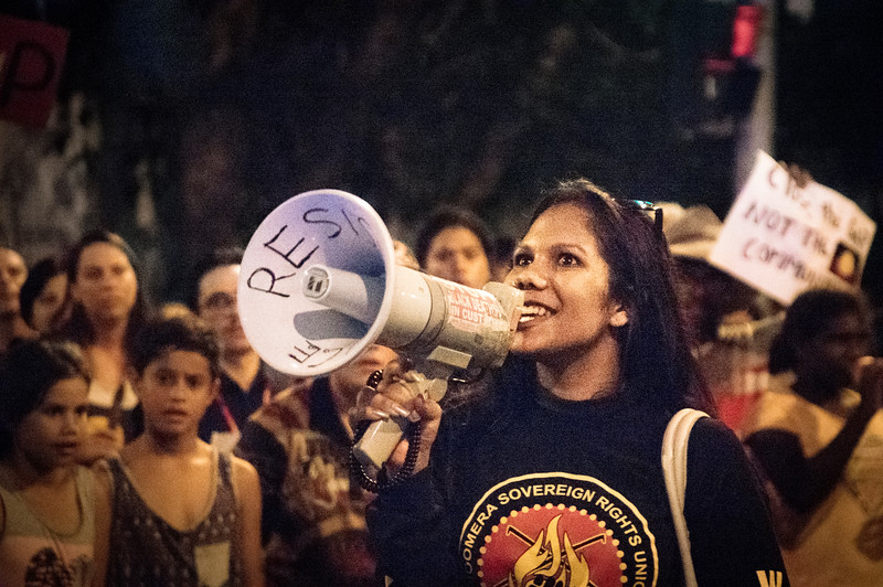 Ruby Wharton<br /> Brisbane says no to the forced closure of Aboriginal communities, protest 27.3.15