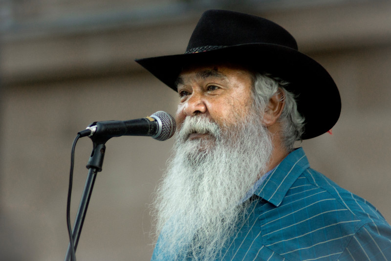 Bob Weatherall<br /> Brisbane says no to the forced closure of Aboriginal communities, protest 27.3.15