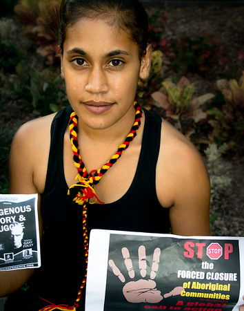 Brisbane says no to the forced closure of Aboriginal communities, protest 19.3.15