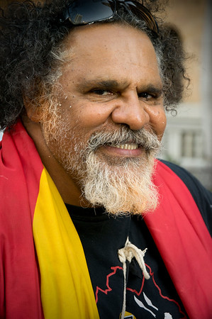 Adrian Burragubba<br /> Brisbane says no to the forced closure of Aboriginal communities, protest 19.3.15