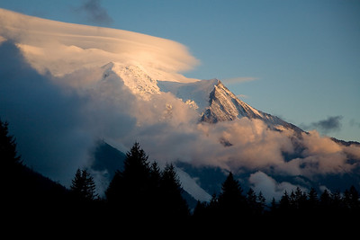 Mont Blanc and the Aiguille du Midi from Ian and Sarah's, Argentiere, France