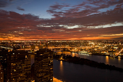 Dawn over East River and Queens