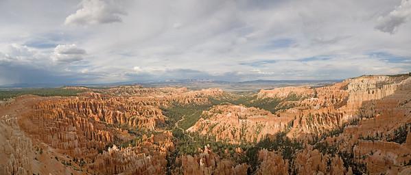 Stitched Panorama of Bryce Canyon, Utah.
