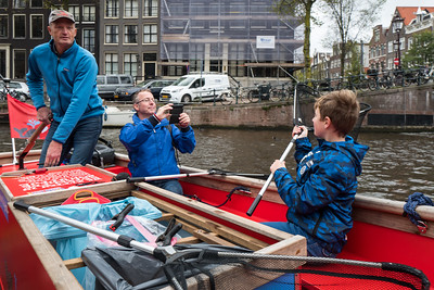 Fishing for Plastic on the Amsterdam canals