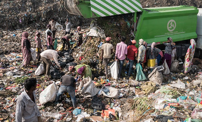 While Municipal corporation denies dumping the garbage anymore at the site, one can always spot it.