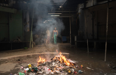 Practice of burning trash on the roads contributes highly in the air-pollution.