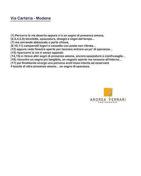 Via Carteria - Modena - AC Factory laboratorio Reportage e Racconto fotografico - 00