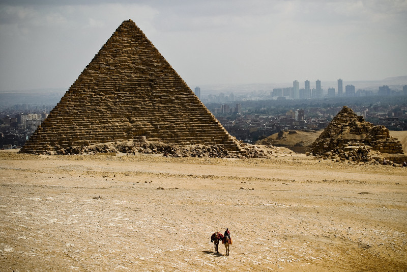In the mind's eye the Pyramids of Giza and the Sphinx are miles from civilization amidst a vast open desert. Reality couldn't be further from the truth. Cairo's urban sprawl now threatens to envelope the pyramids as Cairo's suburbs grow out of control.