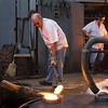 Traditional glass making at the Hergiswil Glasi.