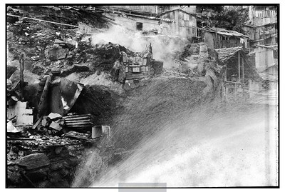 Incêndio na favela Dona Marta