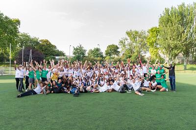 La traditionnelle photo de groupe du Campus avec l'ensemble des filleuls, les animateurs (eux même filleuls ayant déjà fait le campus), le staff de l'association
