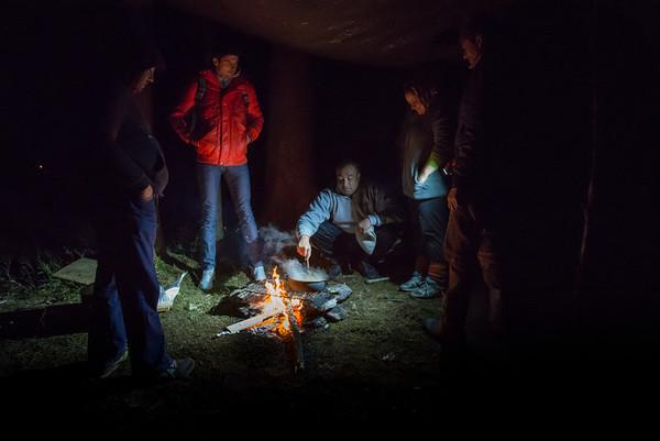 Romanians sleeping in forest near Oslo 19.03.13
