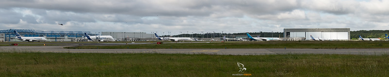 Airbus Industries / Product Defilee A220, A319Neo, A330Neo, A35K, Beluga XL and A380
