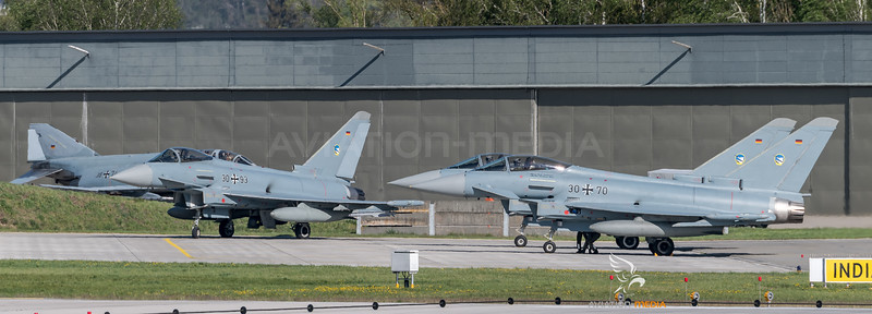 German Air Force TLG74 / Eurofighter Typhoon / 30+93, 31+02, 30+70