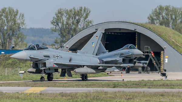 German Air Force TLG74 / Eurofighter Typhoon / 30+74, 30+22