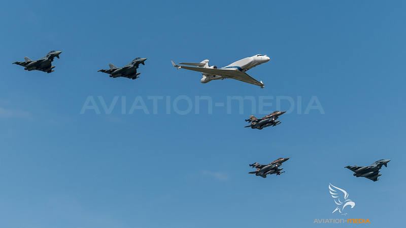 Israeli Air Force 122 Squadron 105 Squadron & German Air Force TLG-31 / Gulfstream G550 Aitam and Lockheed Martin F-16D Block 40 & Eurofighter Typhoon / 569 and 682, 676 & 31+05, 31+39, 30+54