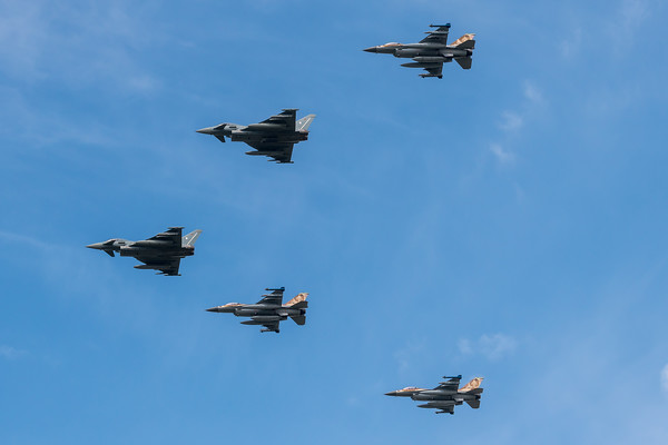 Israeli Air Force 101 Squadron & German Air Force TLG-31 / Lockheed Martin F-16C Block 40 & Eurofighter Typhoon / 531, 534, 536 & 31+16, 31+39