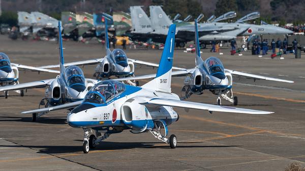 JASDF 11 Hikotai / Kawasaki T-4 / Blue Impulse Livery